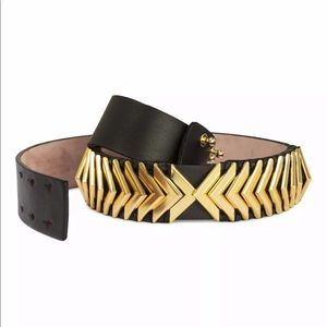 NWT H&M x Balmain Black Leather Waist Belt